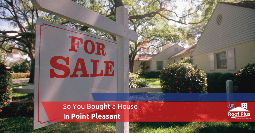 """A """"For Sale"""" sign next to a Point Pleasant house."""